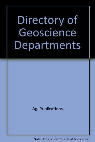 Directory of Geoscience Departments: Agi Publications