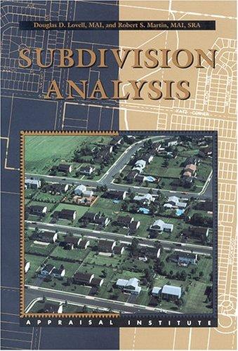 Subdivision Analysis: Douglas D. Lovell;