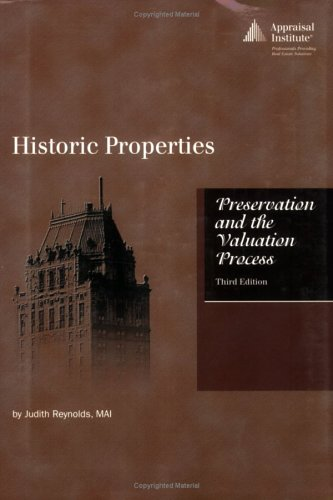 9780922154876: Historic Properties: Preservation and the Valuation Process