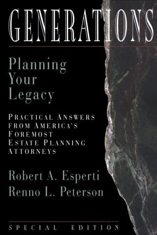 9780922943135: Generations : Planning Your Legacy (Esperti Peterson Institute Contributory Series)