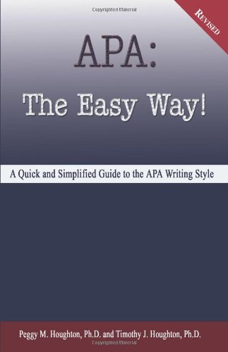 9780923568559: APA: The Easy Way! (for APA 5th edition - NOT for APA 6th edition)