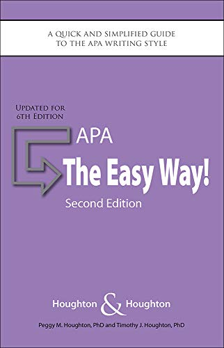 9780923568962: APA: The Easy Way!: Updated for the APA 6th Edition