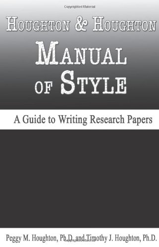 9780923568979: Houghton & Houghton Manual of Style (A Guide to Writing Research Papers)