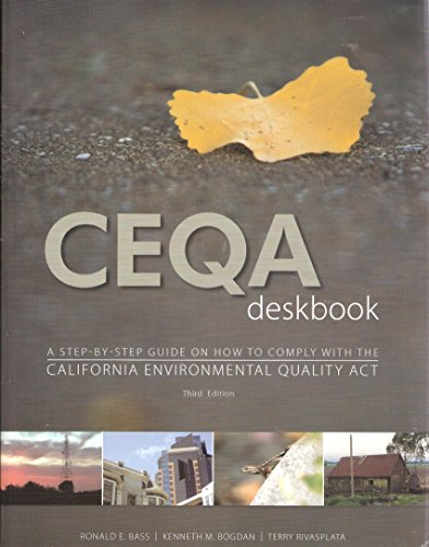 9780923956486: CEQA Deskbok A Step-By-Step Guide on How to Comply with CEQA