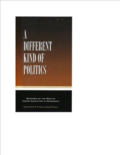 A Different Kind of Politics: Derek W. M.