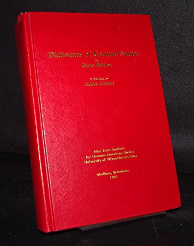 9780924119354: Dictionary of German Names