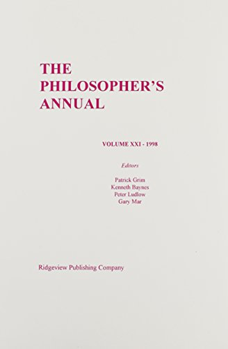9780924922336: The Philosopher's Annual 1998: 21
