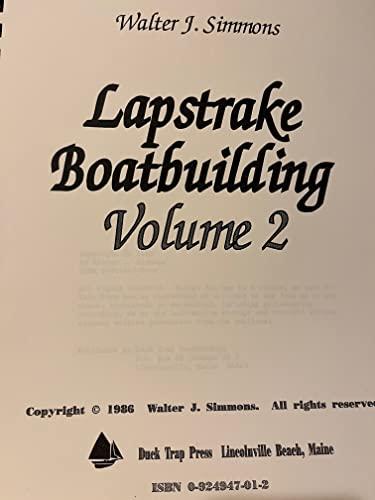 Lapstrake Boatbuilding, Vol. 2: Simmons, Walter J.