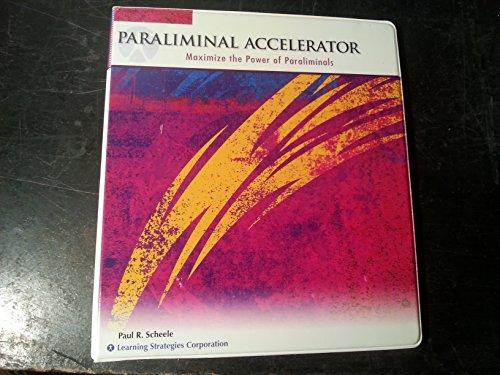 9780925480811: Paraliminal Accelerator