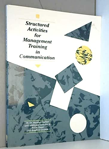 Structured Activities for Management Training in Communication (0925652040) by Sashkin, Marshall