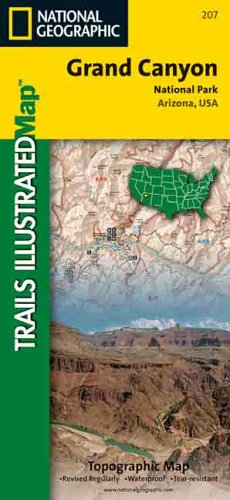 9780925873071: National Geographic Grand Canyon National Park Arizona, USA: Trails Illustrated (Trails Illustrated - Topo Maps USA)