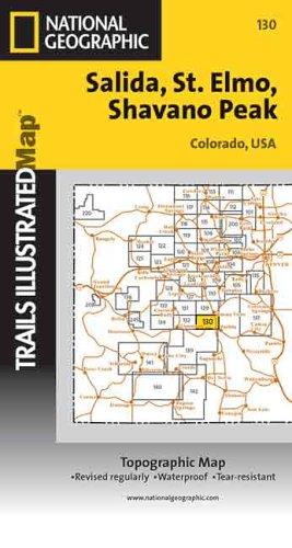 9780925873507: Trails Illustrated: Topographic Map - Salida/St. Elmo/Shavano Peak - Colorado
