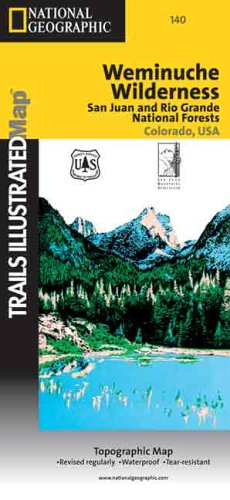 9780925873576: Trails Illustrated Weminuche Wilderness, Colorado