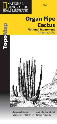 National Geographic, Trails Illustrated, Organ Pipe Cactus