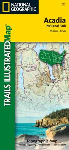 9780925873958: National Geographic, Trails Illustrated, Acadia National Park: Maine, USA  (Trails Illustrated - Topo Maps USA)