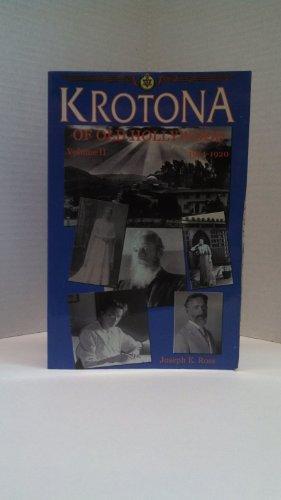 9780925943125: Krotona of Old Hollywood, Volume II, 1914-1920