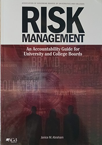 9780926508736: Risk Management: An Accountability Guide for University and College Boards