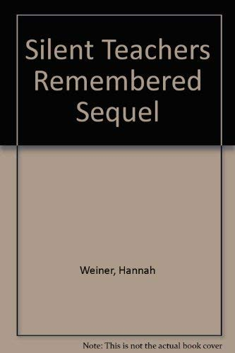 Silent Teachers Remembered Sequel: Hannah Weiner