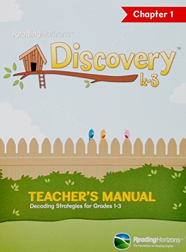 9780928424805: Reading Horizons Discovery k-3 Chapter 1 Teacher's Manual: Decoding Strategies for Grades 1-3
