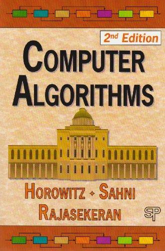 Computer Algorithms: Ellis Horowitz; Sartaj