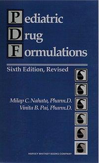 9780929375144: Pediatric Drug Formulations