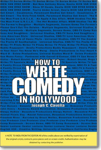 How to Write Comedy in Hollywood: Joseph C. Cavella