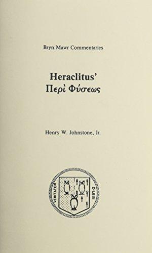 9780929524122: Peri Physeos (Bryn Mawr Commentaries, Greek)