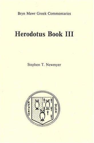 9780929524146: Book 3 (Bryn Mawr Commentaries, Greek) (Bk. 3)