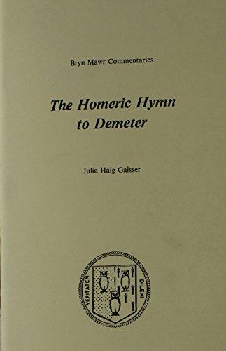 9780929524177: The Homeric Hymn to Demeter (Bryn Mawr Commentaries, Greek)