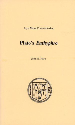 9780929524252: Euthyphro (Bryn Mawr Commentaries, Greek)