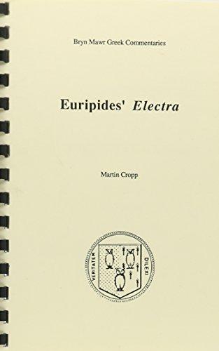 9780929524573: Electra (Bryn Mawr Commentaries, Greek)