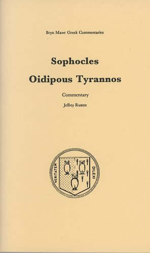 9780929524672: Oidipous Tyrannos: Commentary. 2-volume set (Text and Commentary)