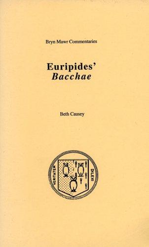 9780929524856: Bacchae (Bryn Mawr Commentaries, Greek)