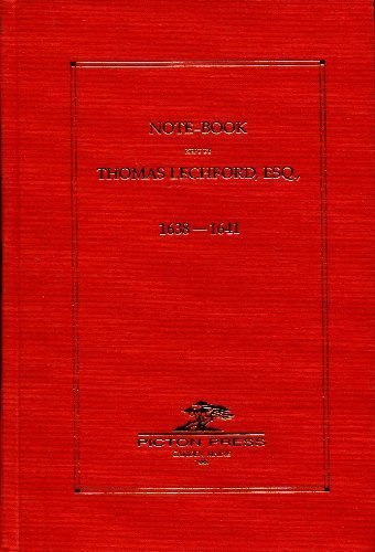 9780929539065: Note-Book Kept by Thomas Lechford, Esq., 163-1641