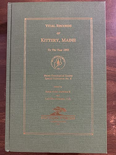 Vital Records of Kittery Maine to the: Joseph Crook Anderson