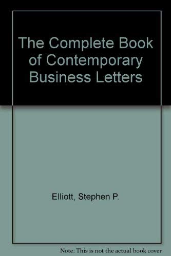 9780929543000: The Complete Book of Contemporary Business Letters