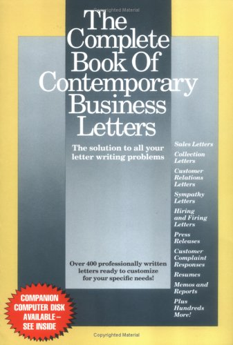 9780929543079: The Complete Book of Contemporary Business Letters