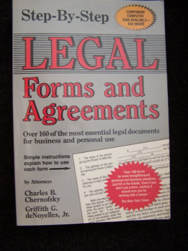 9780929543109: Step-By-Step Legal Forms and Agreements