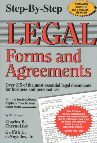 9780929543420: Step-By-Step Legal Forms and Agreements