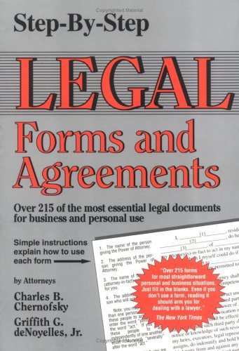 9780929543598: Step-By-Step Legal Forms and Agreements