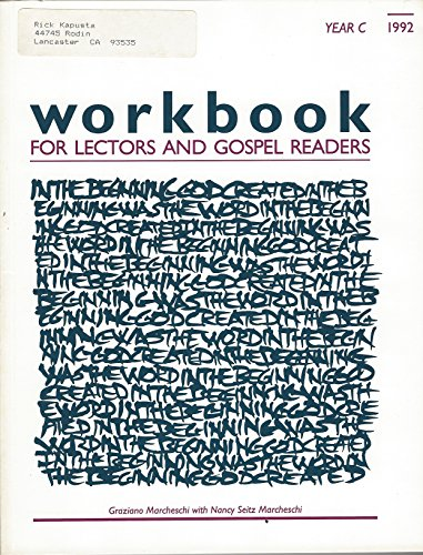 Workbook for lectors and gospel readers, year C 1992 (0929650301) by Graziano Marcheschi