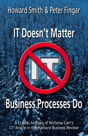 it doesn t matter nicholas carr It doesn't matter--business processes do has 24 ratings and 0 reviews a controversial article by nicholas carr, published in the may 2003 issue of harva.