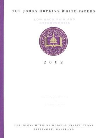 The Johns Hopkins White Papers: Low Back: John P. Kostuik,