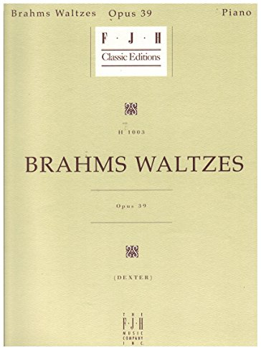 9780929666891: Brahms Waltzes Op. 39 for piano solo