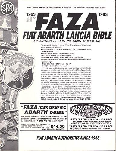 Fiat Abarth Lancia Bible, 5th Edition: Alfred S. Cosentino