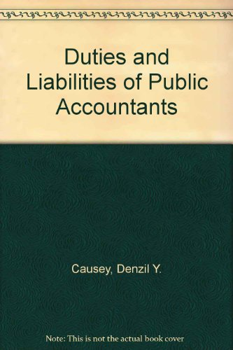 9780930001117: Duties and Liabilities of Public Accountants