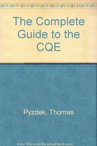 The Complete Guide to the CQE: Pyzdek, Thomas