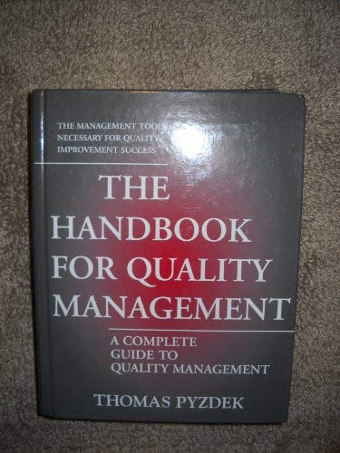 9780930011703: The Handbook for Quality Management