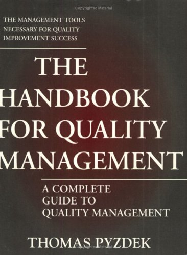 9780930011895: The Handbook for Quality Management