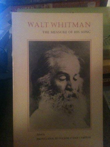 9780930100087: Walt Whitman--The Measure of His Song